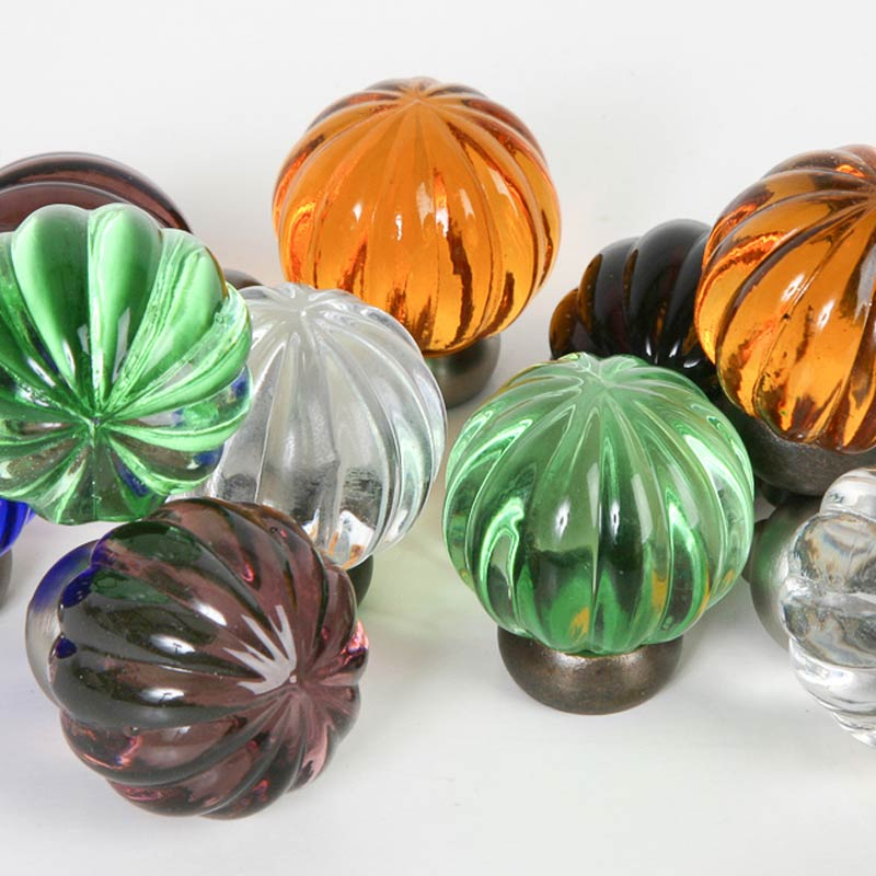 Melon Glass Knobs