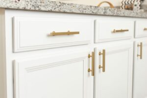 Champagne Colored Glasses - DIY Kitchen Improvements