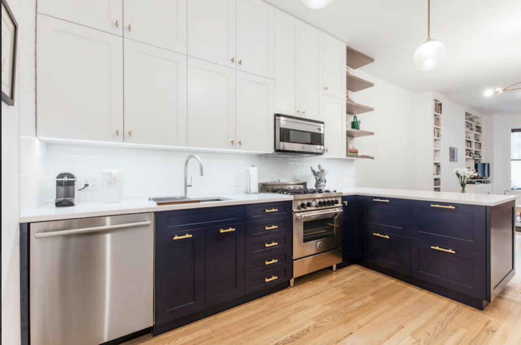 Sweeten - A Navy and White Kitchen Renovation